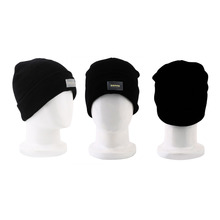 Winter Unisex 5 LED Lights Knitted Cotton Caps Comfortable Keep Warm Running Caps Dance Hat Wholesale