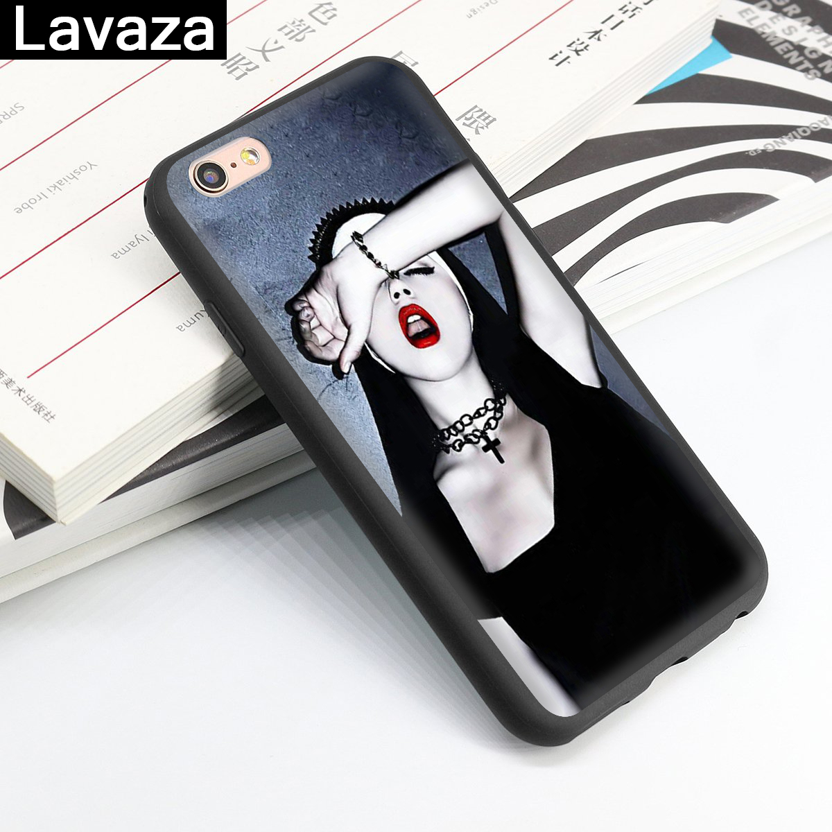 Lavaza Sister nun Silicone Case for iPhone 5 5S 6 6S 7 8 11 Pro Plus X XR XS Max in Fitted Cases from Cellphones Telecommunications