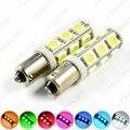 2 Unids DC12V Coche BA9S T4W 1895 5050 1SMD 1LED Lámpara Del Coche LED Bombillas de Luz de Lectura de $ Number Colores # FD-3411