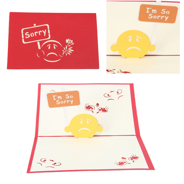 Vintage 3d pop up origami paper laser cut greeting cards sorry vintage 3d pop up origami paper laser cut greeting cards sorry design birthday postcards diy kirigami m4hsunfo
