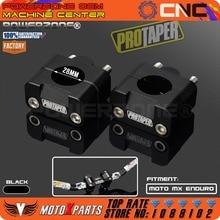 Pro Taper Bar Fat Manillar Risers Clamp Mount Adapter 7/8-1 1/8 Universal Soportes Sólidos fit Motocicleta Enduro MX CRF YZF KXF