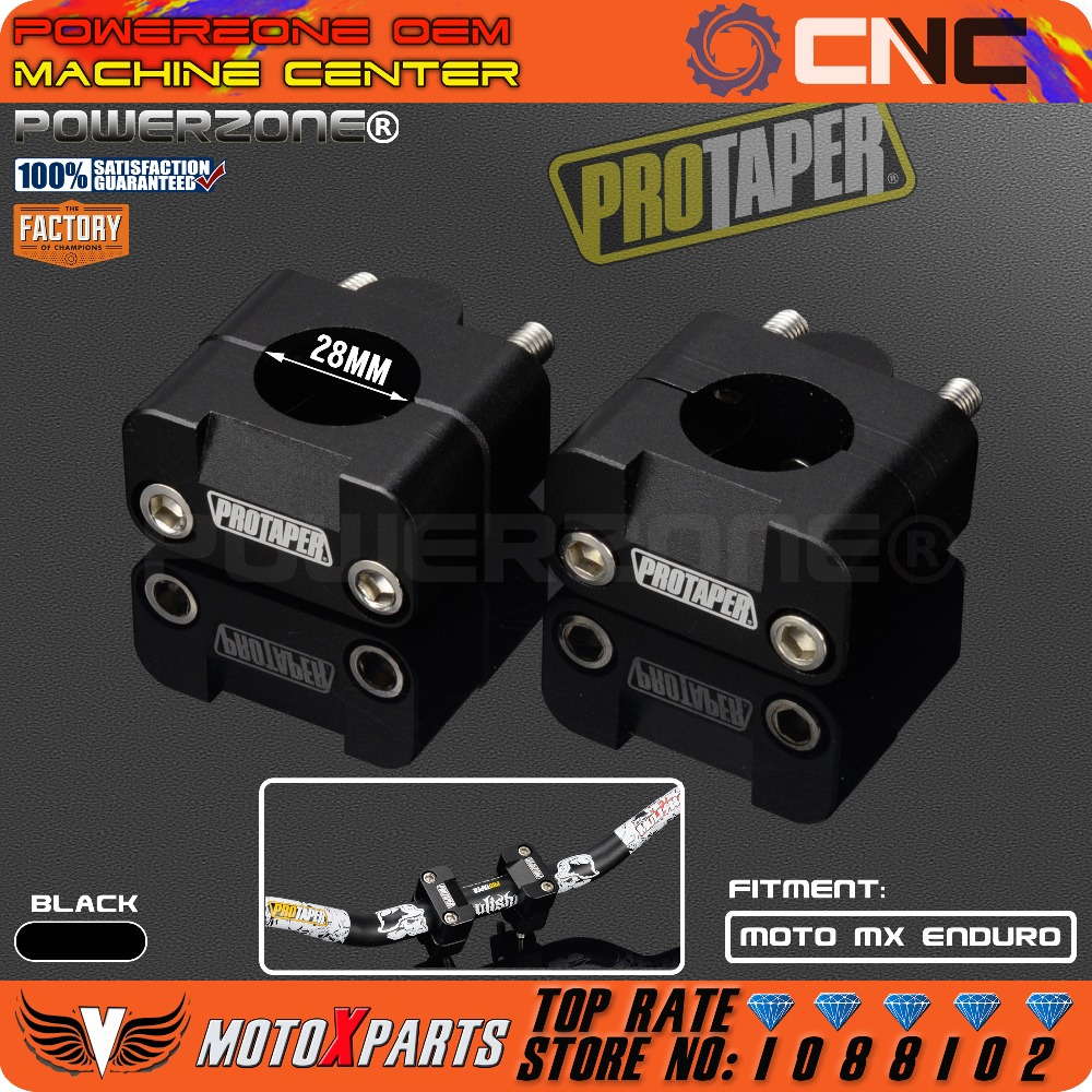Pro Taper HandleBar Fat Bar Risers Mount Clamp Adapter 7/8 - 1 1/8 Universal Solid Mounts fit Motorcycle MX Enduro CRF YZF KXF