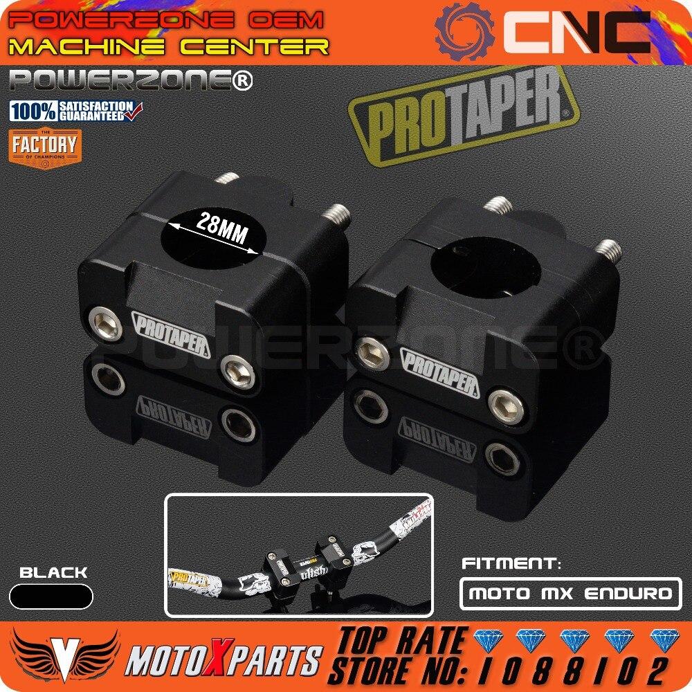 Pro Taper handlebar grasa bar risers montaje clamp adaptador 7/8-1 1/8 sólido universal mounts fit motocicleta MX enduro CRF YZF kxf