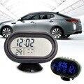 Nuevo Multi Auto Car Exterior Exterior Termómetro Sensor de Temperatura Digital 3 en 1 Medidor de Voltaje Voltímetro Monitor LCD Reloj