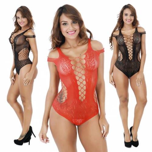 6ae4c76c42 Women Ladies Sexy-Lingerie Nightwear Sleepwear Dress Babydoll Lace G-string Underwear  Black Red Exotic Apparel Chemises
