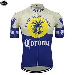 Corona beer cycling jersey men short sleeve ropa ciclismo bike wear jersey triathlon cycling clothing maillot ciclismo MTB(China)