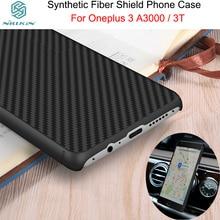 Nillkin синтетического волокна телефон case для oneplus 3 3 t case capinha пункт celular для oneplus 3 т углеродного волокна pp задняя крышка 5.5 дюймовый