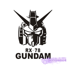 GUNDAM Sticker Anime Cartoon Car Decal Sticker RX-78 Vinyl Wall Stickers  Decor Home Decoration car sticker japanese cartoon fans seed gundam raiser vinyl wall stickers decal decor home decoration