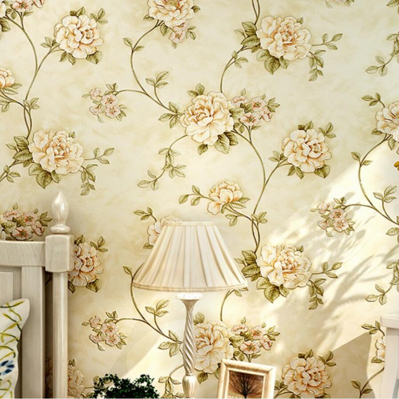 beibehang Deep garden flowers Luxury Gorgeous Damask Textured Wallpaper Wallpaper Wall paper Roll Wallcoverings papel de parede hot 53cm x 10m modern luxury cream damask textured wallpaper roll beige champagne new