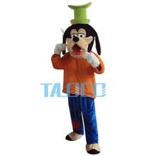 Factory Sale Goofy Dog Mascot Costume Cartoon Fancy Dress Adult Size Free Shipping