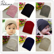 2018 Brand New Baby Hats Beanies winter warm Girl Boy Toddler Infant Kids Children Cute Hat Cap Unisex Solid Knitted Beanie Gift(China)