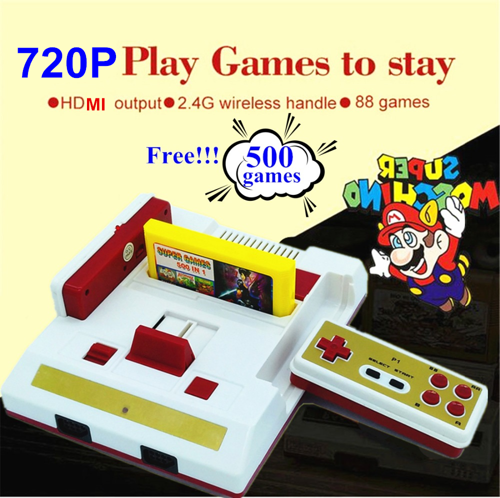 New HD Video Game Console 588 free games High definition HDMI TV Out with 2 4G