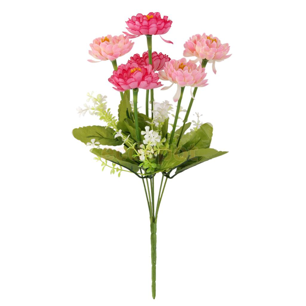 Pink lotus flowers promotion shop for promotional pink lotus fake snow lotus artificial flower bouquet home office floral decoration pink dhlflorist Gallery