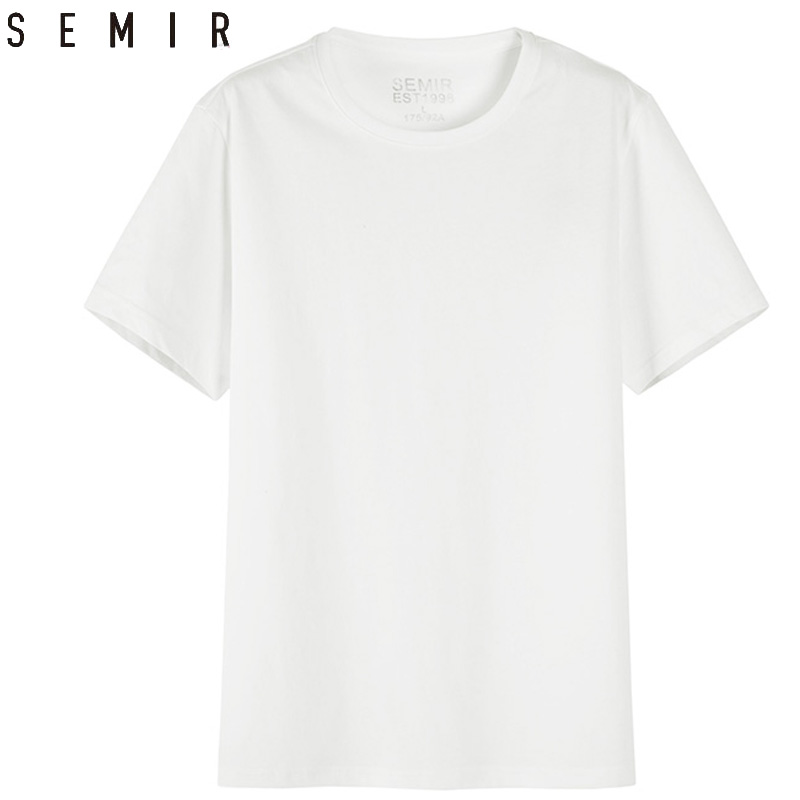 SEMIR Men   T     shirt   Fashion 2018 Cotton Mens Tshirts White Tee   shirt   casual Summer Tshirts men Camiseta Masculina clothes Top