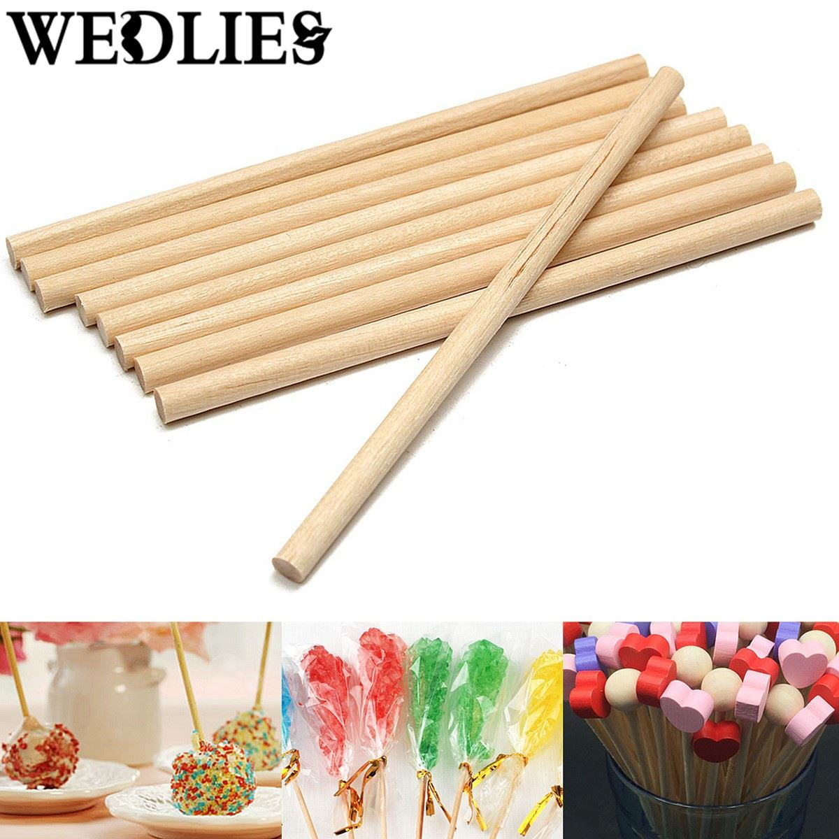 craft ideas with lolly sticks 100pcs pack wooden lollipop lolly sticks 80mm cake 6328