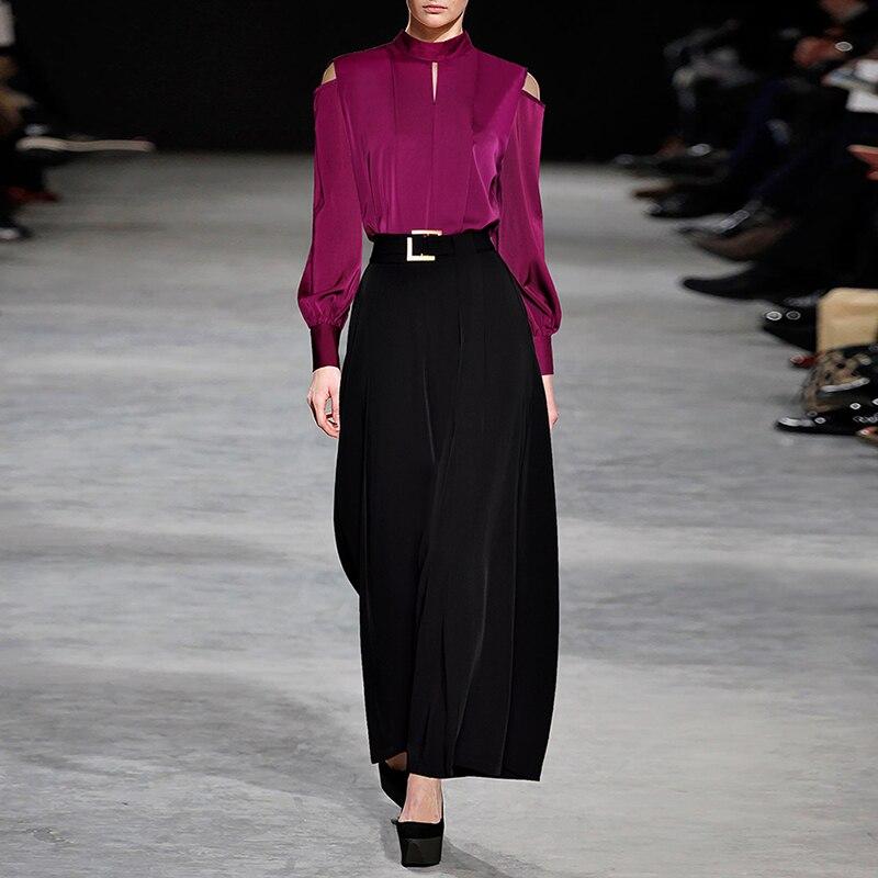 Nouveau Haute Femmes Col De Set Blazer Ensemble Piste Mode Floral Pantalon 2018 Qualité Châle Deesigner Costume yY6gbf7