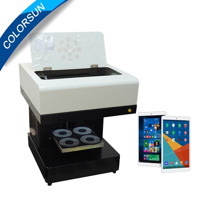 4 tasses imprimante à café machine d'impression de gâteau imprimante comestible bricolage conception boisson biscuit crème imprimante/latte imprimante avec tablette