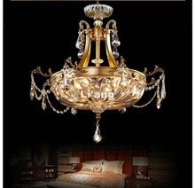 Free Shipping D58cm H63cm E14 LED European Style Aisle Bedroom Study Balcony Ceiling Lamp Simple Circle Bronze LED Ceiling Light