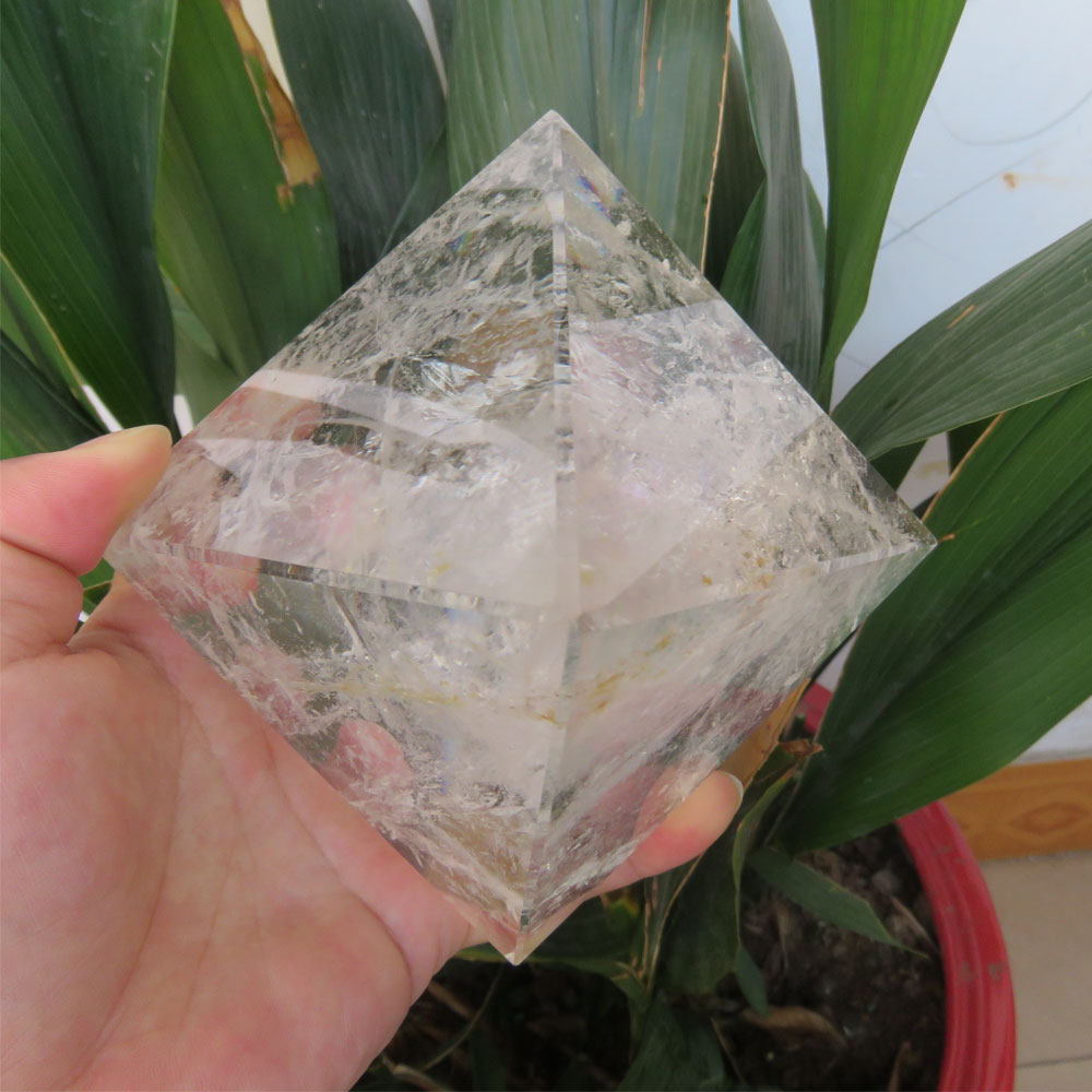 851g 96 95 82mm Low Price Large 100 Natural Clear Quartz Crystal Pyramid Energy Pyramid Handmade