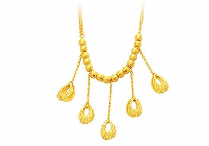 83e6cd180e92 Puro 24 K oro amarillo Phoenix collar de cadena collar de las mujeres 14.76G