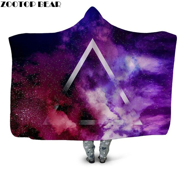 Colorful Galaxy World Hooded Blanket 1