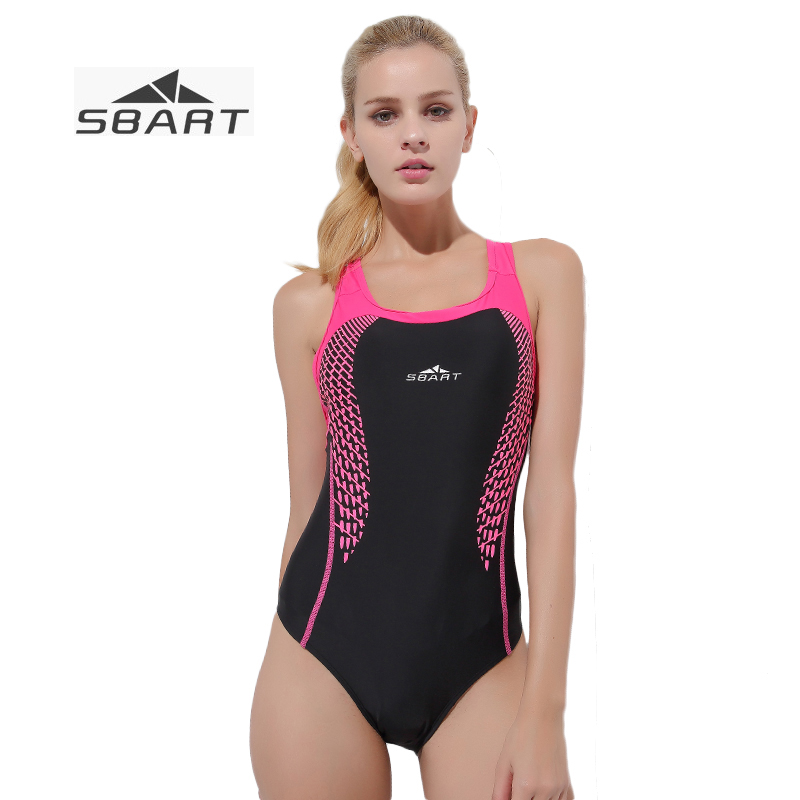 SBART Plus Size Brief High Cut One piece Women Swimsuit Girls Backless Swimming Suit with Shoulder Strap Sexy Sport Bathing Suit