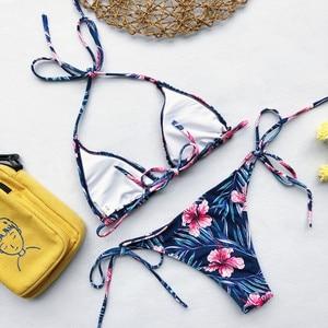Image 5 - Strój kąpielowy Bikini stroje kąpielowe kobiety brazylijski Bikini Set 2020 drukuj Bikini niskiej talii strój kąpielowy Bikini Maillot De Bain Biquini