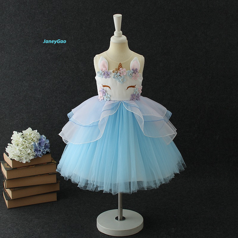JaneyGao 2019 New Arrival   Flower     Girl     Dress   For Wedding Party Birthday Kids Formal Gown Little   Girl   First Communion   Dresses
