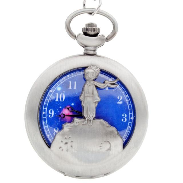 New Fashion The Little Prince Bronze Quartz Pocket Watch Analog Pendant Necklace