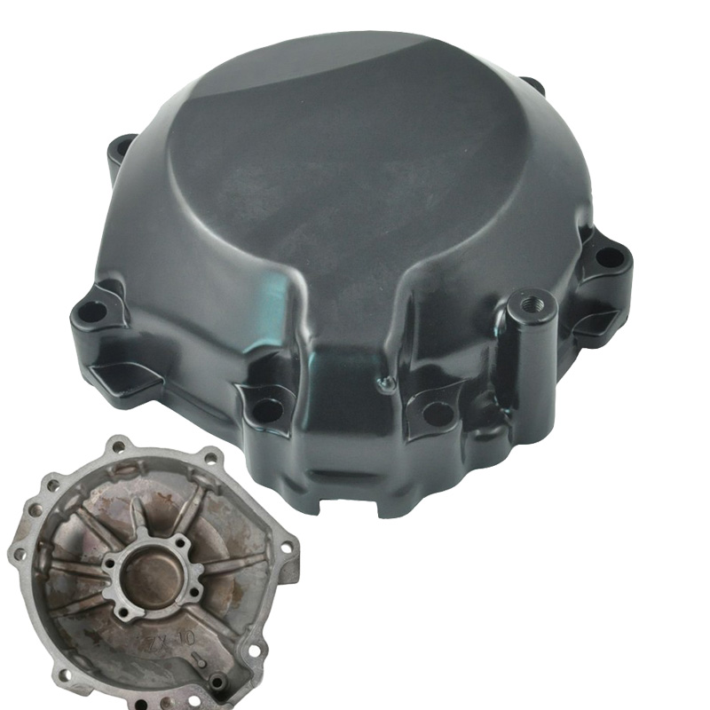 Black Aluminum Motorcycle Stator Cover Engine Crank Case For KAWASAKI Ninja ZX10R 2006 2007 2008 2009 2010 ZX 10R ZX-10R 06-10 aluminum water cool flange fits 26 29cc qj zenoah rcmk cy gas engine for rc boat