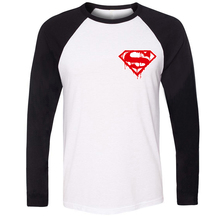 Men stree Style Cotton Long Sleeve Melting Superman Marvel Superhero cool Bodybuilding Fitness Design T-shirts Gifts for Boy