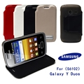 Tpu caso para Samsung Galaxy Y Duos S6102 capa de couro com carteira e cartão de titular 4 cores em estoque