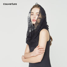 Белый черный кружевной дизайн модные женские кольца на шею шарф