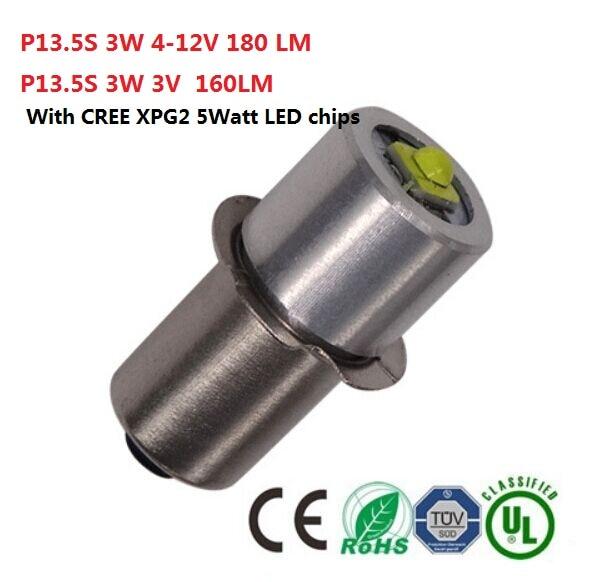 2piece E10 P13 5s Flashlight Bulb 0 5w 1w 5w Emergency