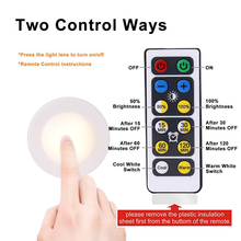 6500K 5000K 2700K Color Changing Dimmable Remote Control Puck Night Lights Touch Sensor LED Under Kitchen Cabinets Close lights