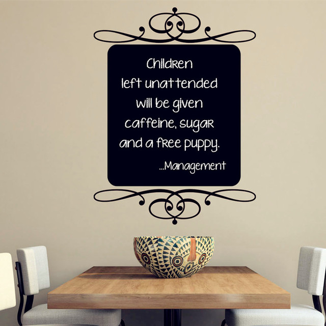 classic blackboard wall decal vinyl sticker kitchen, cafe, home