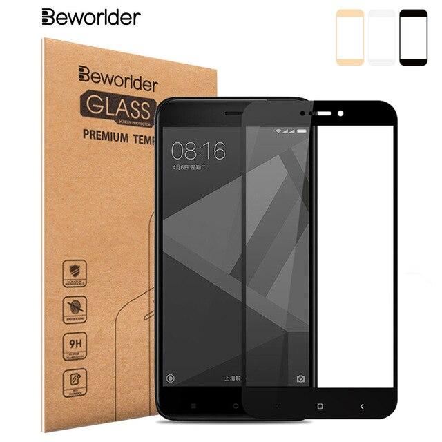 Beworlder закаленное Стекло для Xiaomi Redmi 4x32 ГБ Экран Protector 5.0 дюймов HD Взрывозащищенный полное покрытие телефон защитный Плёнки