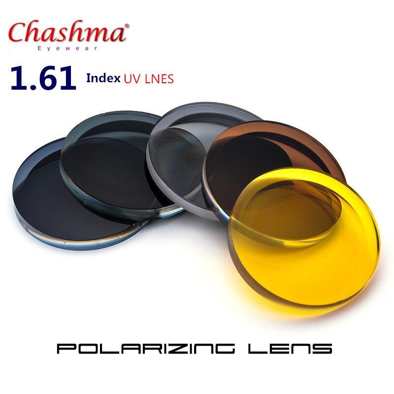 1.61 indice Prescription lunettes de soleil lentille myopie lunettes myopie résine lentilles pour conduite lunettes et Vision nocturne