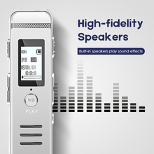 Built-in Speaker Recorder Dictaphone Recording Mini Registrar Hidden Sound Microphone Stereo Pencil Metal Shell