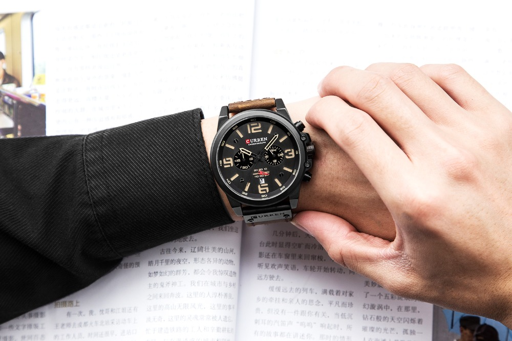 Top Brand Luxury CURREN 2018 Fashion Leather Strap Quartz Men Watches Casual Date Business Male Wristwatches Montre Homme