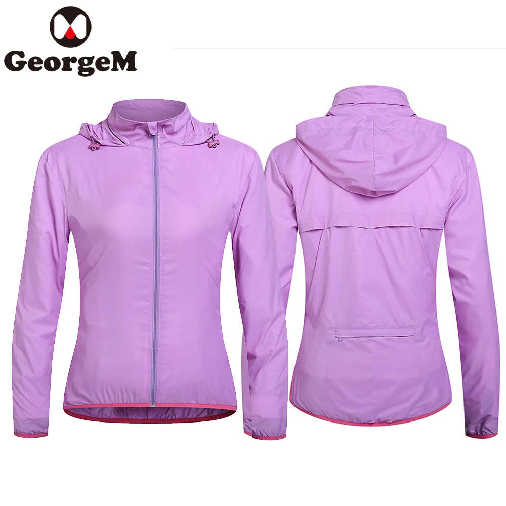 257c30c6d GeorgeM Bike Clothing Women s Ultralight Quick Dry Rainproof Jacket Outdoor  Sports Riding Hiking Cycling Raincoat Windbreaker
