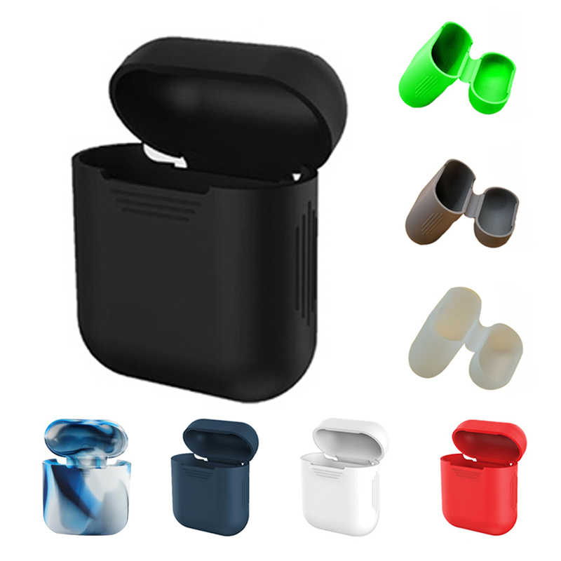 DOITOP Soft Silicone Case For Apple Shockproof Cover For Apple Earphone Cases Ultra Thin Protector Case