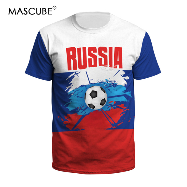 a357322952d MASCUBE Portugal Team 2018 Soccer Cup Tops For Men Tshirts Flag Printed  Football Soccer Fans Jersey Short Sleeve T-shirt