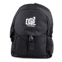 Lightdow Black Water Resistant Day Trip Photographic Camera Bag Single Shoulder Carry Bag for Cannon Nikon Sony DSLR Cameras