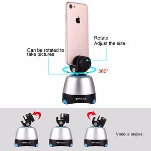 Image 2 - Tripé panorâmico eletrônico puluz de 360 graus, cabeça com controle remoto rotativo para smartphones, gopro, dslr