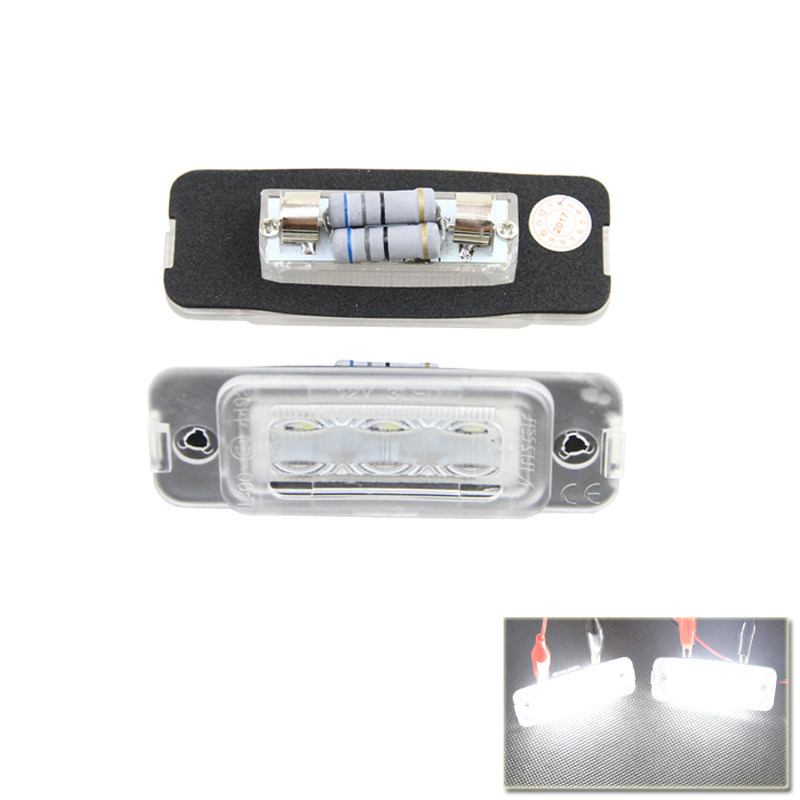 2Pieces New Led Number License Plate Lights Lamp Direct Fit For Benz W251 R-Class W164 ML-Class X164 GL-Class White Car Light 2pcs car lights 24smd led number plate light lamp bulbs rear led license plate lights for bmw e38 led number lamp free shipping