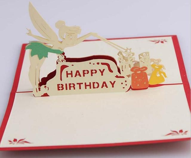 10pcs 3d Fairy Angel Handmade Kirigami Origami For Happy Birthday