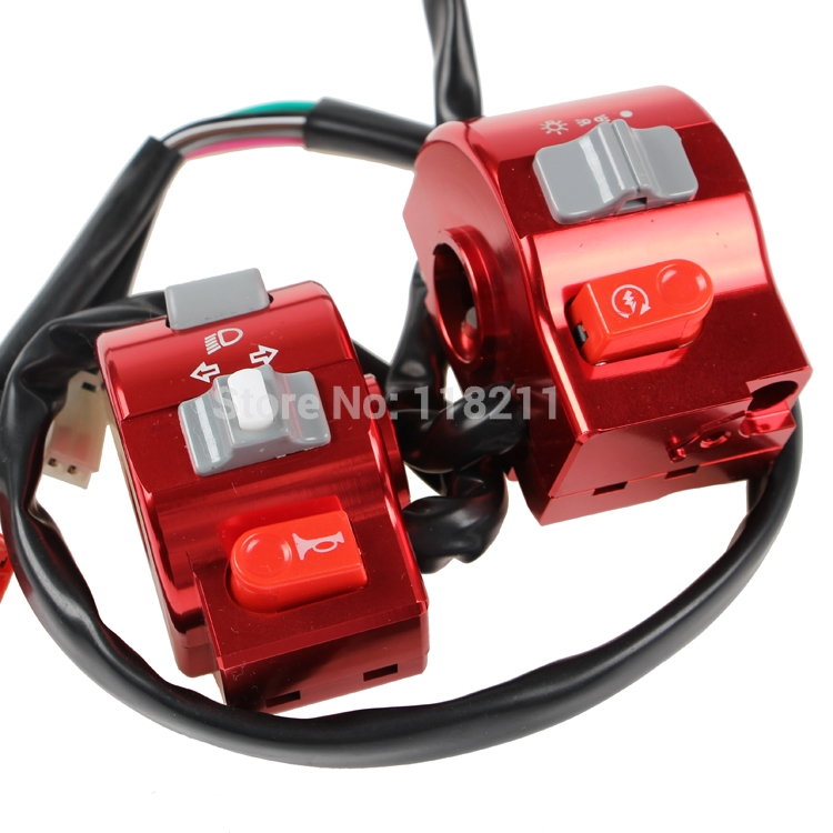 RPMMOTOR CNC 7 8 22mm Electric Motorcycle Scooter Handlebar Control Light Horn Switch For Yamaha RSZ
