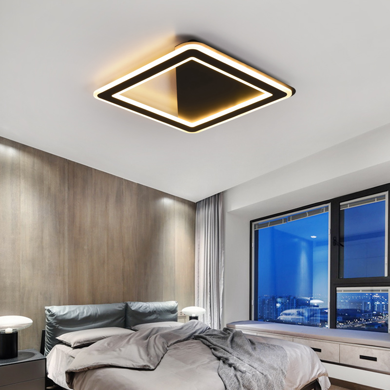 White/Black Square Led Chandelier ceiling For Living room Bed room Study room Home Deco AC85-265V Modern chandelier lighting White/Black Square Led Chandelier ceiling For Living room Bed room Study room Home Deco AC85-265V Modern chandelier lighting