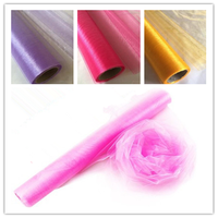 Hot 75cm 50M Tulle Rolls Organza Sheer Gauze Tulle Roll Craft Supplies Wedding Decoration Christmas Decorations